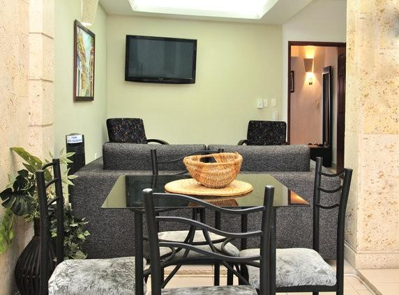 Dining area under the atrium - Old City 2BR: washer/dryer, AC, wifi, hot water... - Cartagena - rentals