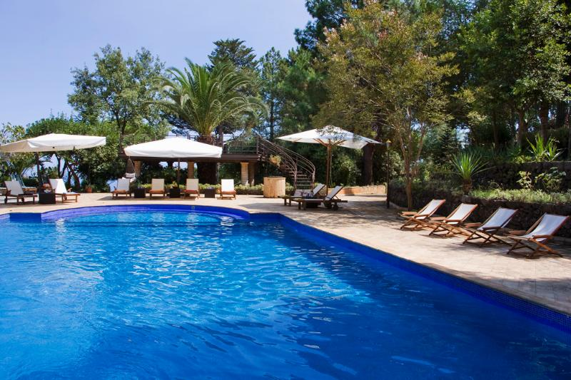 The wonderful pool in the garden - VILLA AZIZ: Luxury,  pool, park, tennis, breakfast included - Piedimonte Etneo - rentals