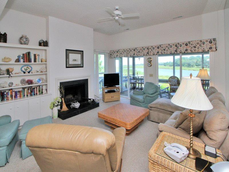 Living Room with Water Views at 24 Lands End Court - 24 Lands End Court - Sea Pines - rentals