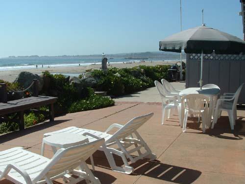 Casa Del Mar Ocean Front Patio with Furniture and BBQ - 240/Casa del Mar *OCEAN FRONT* - Aptos - rentals