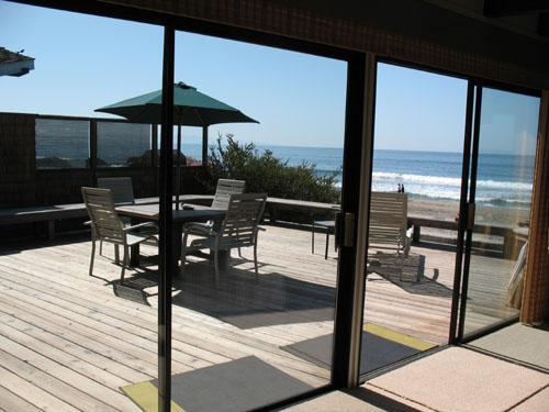 Hawley House Views from Living room to Deck - 535/Hawley Beach House *ON THE SAND* 1 Night FREE for Off-season - Aptos - rentals