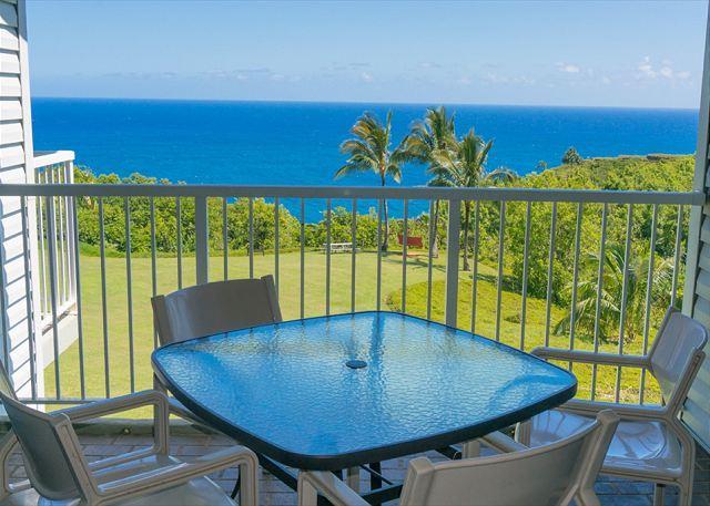 Your view - Cliffs 6302: Oceanfront views, great resort amenities, 2br/2ba sleeps 6. - Princeville - rentals