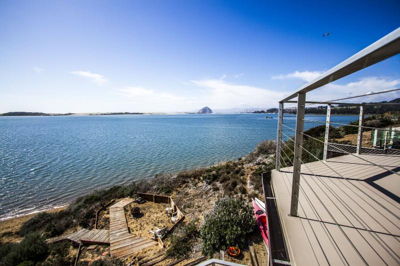 This amazing home sits right on the bay with incredible views of Morro Rock. - Stunning Bay Front Hm Overlooking Morro Bay! 1161 - Morro Bay - rentals