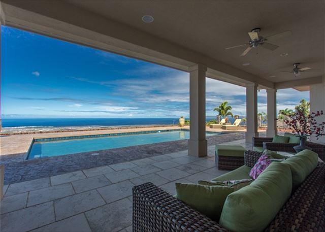 Amazing Views from Lanai & Pool - Spacious 4400 square foot, 4 bedroom, 4.5 bath Private Estate-PHAlahee - Kailua-Kona - rentals