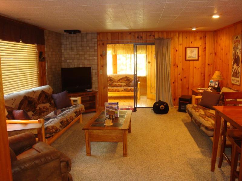 Bear Cabin living room &sunroom - Yellowstone Wildlife Cabins - Bear Cabin (deluxe)! - West Yellowstone - rentals
