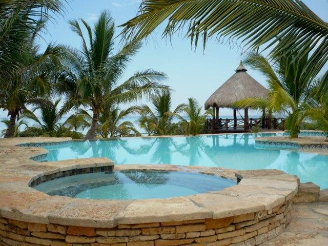 Pool area - Beachfront Villa for Rent - Telchac Puerto - rentals