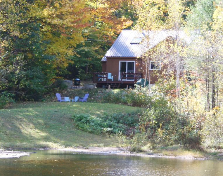 Front view of our home - FEE FREE! Peaceful Family Retreat with Pond, Views - Bartlett - rentals