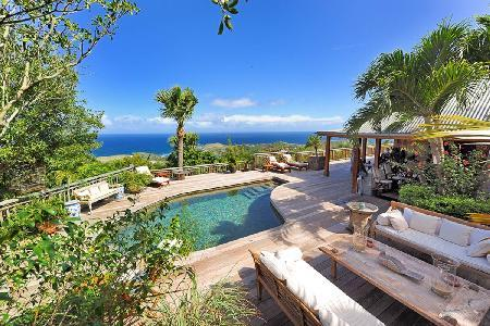 Fabulous Nahma Villa offers panoramic sea views and a lava stone pool - Image 1 - Vitet - rentals
