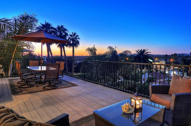 Outdoor dining and lounge chairs outside of living room - Sep Special $199/Night Min 3 Night Ocean View w/AC - San Clemente - rentals