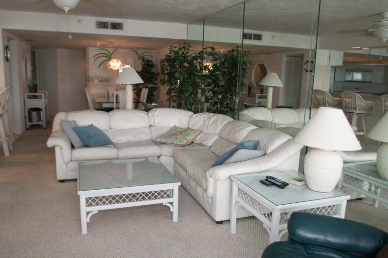 Living Room - Fall $pecials - Condo Sherwin#1007 -Ocean View - Daytona Beach - rentals