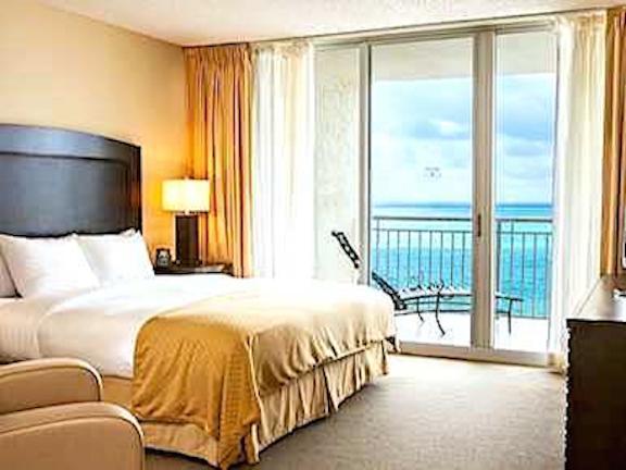 Master Bedroom - 1BR Direct Ocean front Beach resort , Ocean Point - Sunny Isles Beach - rentals