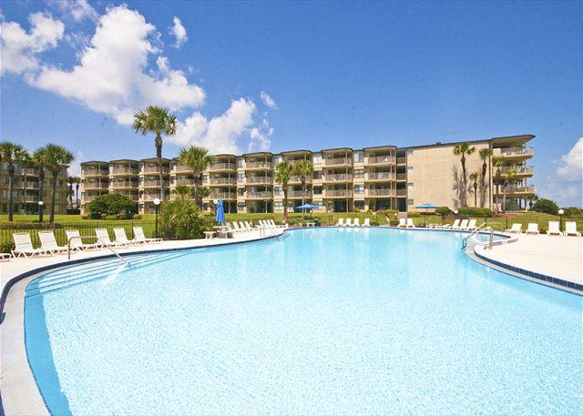 Float serenely in our private pool - Colony Reef 2307, 3rd floor, 3 bedrooms, heated pool, HDTV - Saint Augustine - rentals