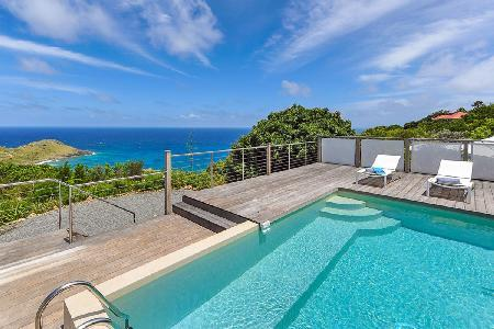 Villa La Magnifica has a fantastic terrace with ocean view and alfresco dining - Image 1 - Saint Barthelemy - rentals