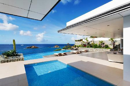 Modern Villa Roxanne with large infinity pool, outdoor dining & central location - Image 1 - Saint Barthelemy - rentals