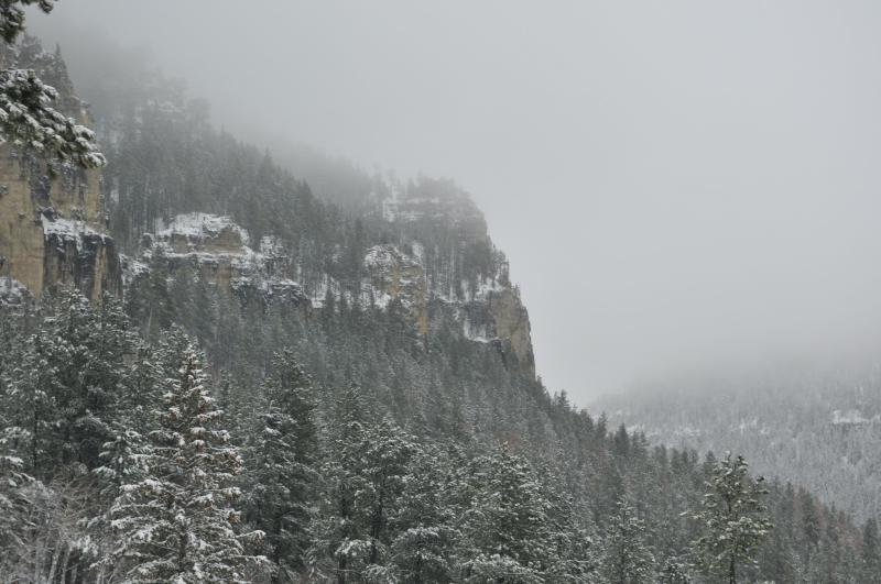 Winter view from windows to the South. - Skye Lodge in Spearfish Canyon, Black Hills, S.D. - Lead - rentals