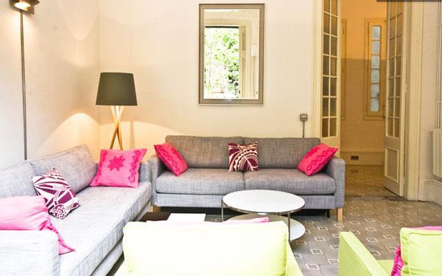Bright living area! - SILK BARCELONA, up to 14, city center! - Barcelona - rentals