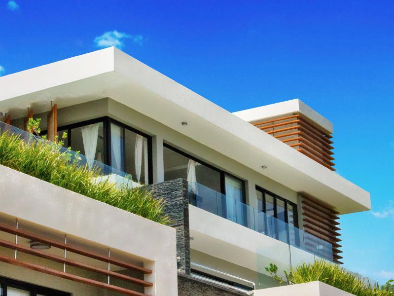 Exterior view of the apartment  Vue extérieure de l´appartement - New Luxurious Apartment With A Gorgeous Ocean View - Las Terrenas - rentals