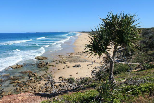 10 km beach in front of SANDS beach house photographed from Point Arkwright - SANDS beach house - wifi, linen - Coolum Beach - rentals