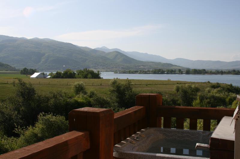 Pristine lake views from private hot tub on balcony - Burton Lodging at Pineview Lake--Private Hot Tub! - Huntsville - rentals