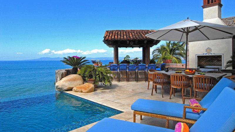 Villa Amapas North pool area - Villa Amapas North - ultra luxury on the beach - Puerto Vallarta - rentals