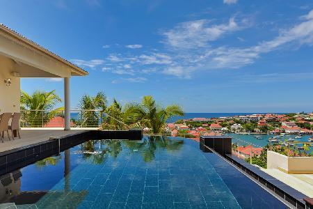 Hillside villa Prestige offers ocean views, infinity pool & central location - Image 1 - Gustavia - rentals