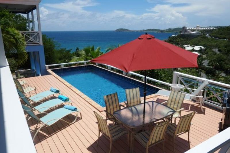 Calypso Blu at Frenchmans Bay Estates, South Side, St. Thomas - Ocean View, Overlooking Beach, Close - Image 1 - Frenchman's Bay - rentals