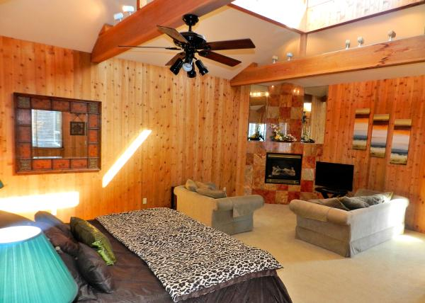 5 Master Bedroom and Sitting Area Fire Place - 808 Nantasket Ct. - San Diego - rentals