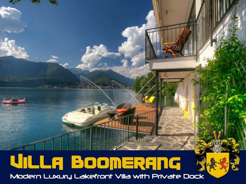 "Villa Boomerang on Lake Orta - Exquisite waterfront Lake Orta Villa ""Boomerang"" - Orta San Giulio - rentals"
