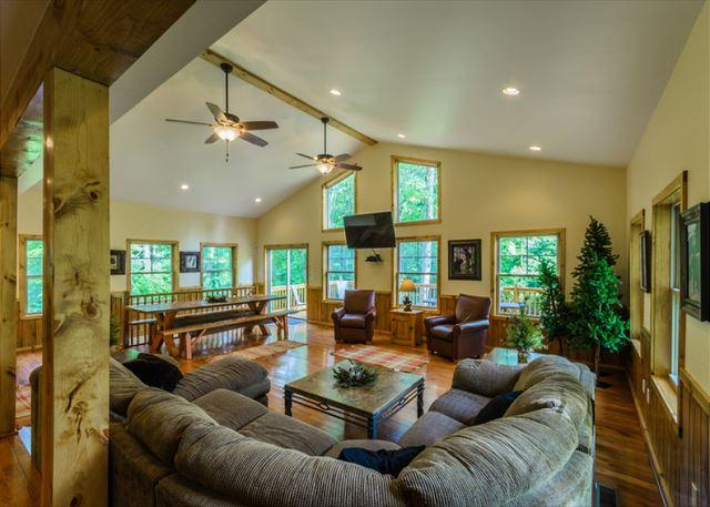 Serenity at it's Finest! -- HOT TUB!! Warm and authentic MOUNTAIN LODGE!! - Image 1 - Farmington - rentals