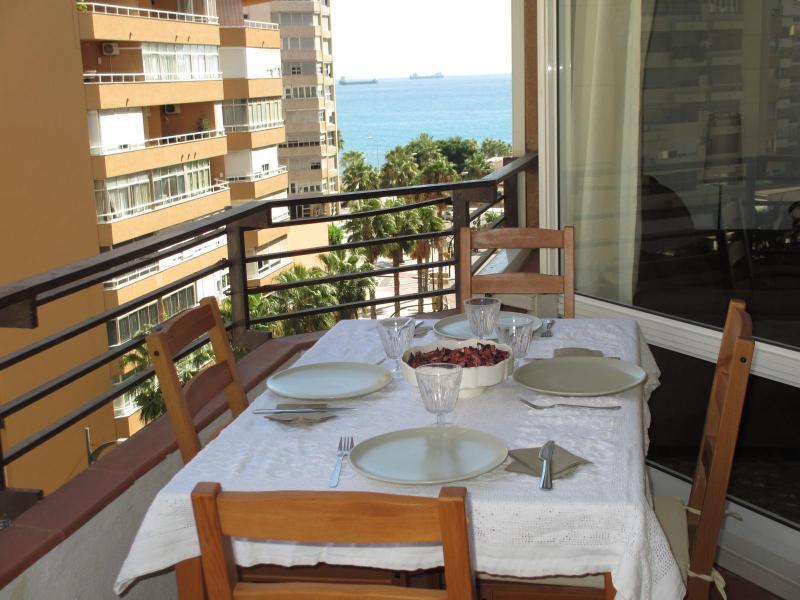 Terrace - Beach Malagueta-Muelleuno, 3 bed, WIFI, terrace - Malaga - rentals