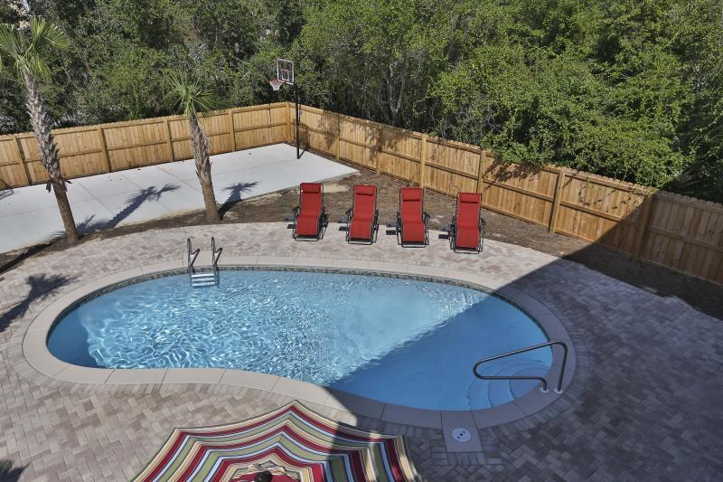 Private Pool Full Court Basketball - New 2014 Beach House Private Pool Basketball Court - Destin - rentals