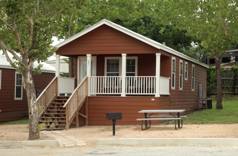 Outside one of the Frio cottages - 2 bedroom cottage near Schlitterbahn - Sleeps 8 - New Braunfels - rentals