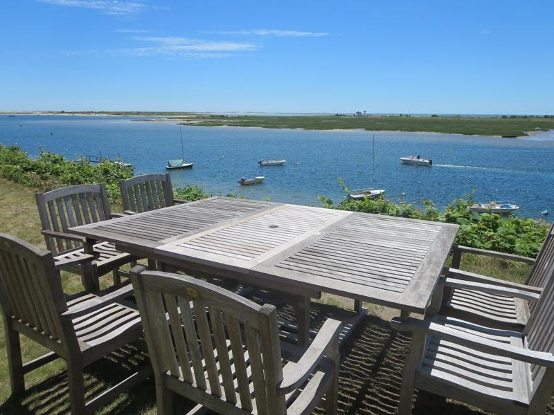 Outside dining with a 5 star view at the Bluff! - 30 Seabeach Road Chatham Cape Cod - Chatham - rentals