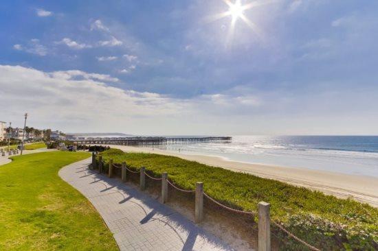 Ocean, beach and boardwalk just steps away - Kat's Oceanfront Corner Condo - Pacific Beach - rentals