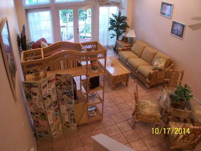 Living room seen from the stairs - Foundry Condo 2BR/2.5BA Truman Annex Old Town KW - Key West - rentals