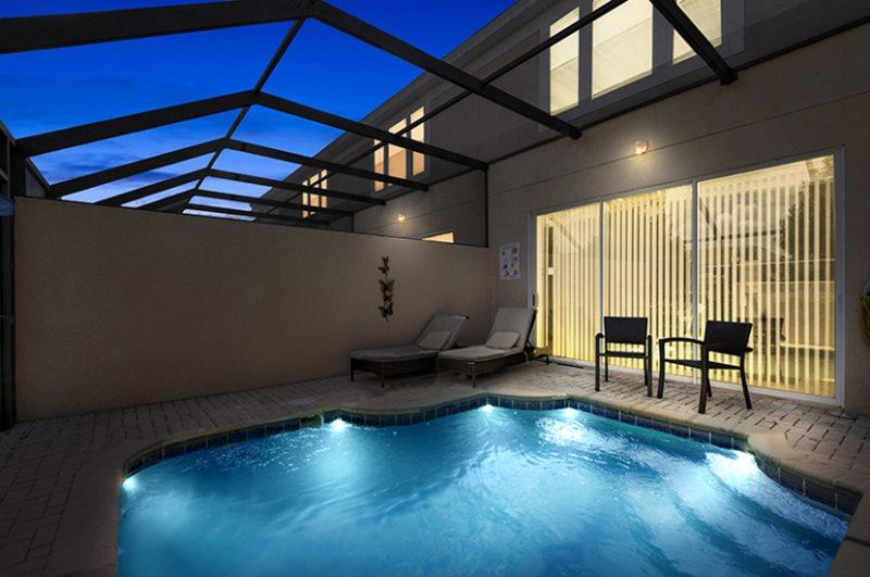 Enjoy the evenings by your private pool - Windsor Magic | 3 Bed Townhome | Windsor Hills Resort - Kissimmee - rentals
