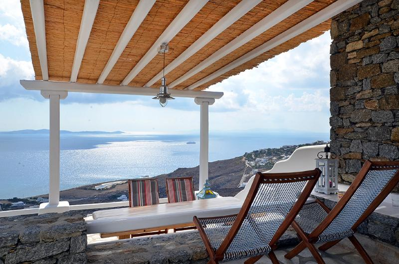 TERRACE VIEW - Villa Kelly  Amazing View  5 people - Mykonos - rentals