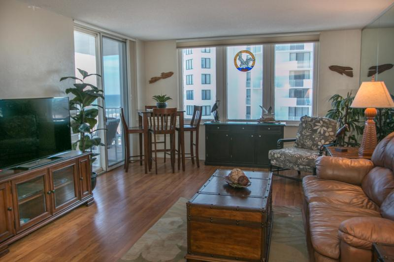 Living Room with Dining Area - May/June $pecials-Oceans3 #502-Ocean / River View - Daytona Beach - rentals