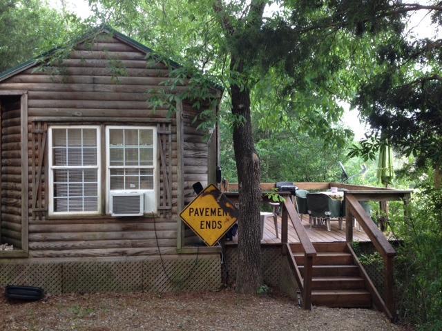 View from driveway - Prairie Creek Cabin-paved 2 mi to 71-sleeps 5 - Mena - rentals