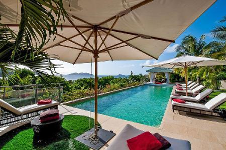 Sophisticated villa Cumulus gated, comprised of 4 buildings with 52 ft pool - Image 1 - Saint Barthelemy - rentals