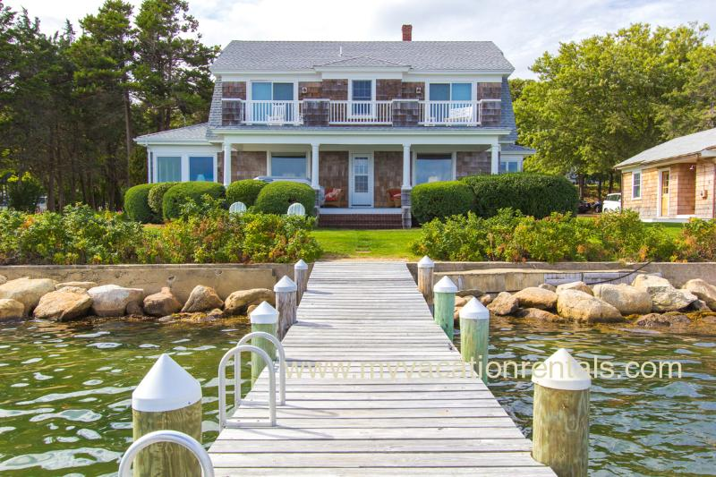 House and Dock - EWARO - Gorgeous Harborfront Home with Private Dock, Walk to Beach and Town, A/C, WiFi, Newly Furnished - Oak Bluffs - rentals