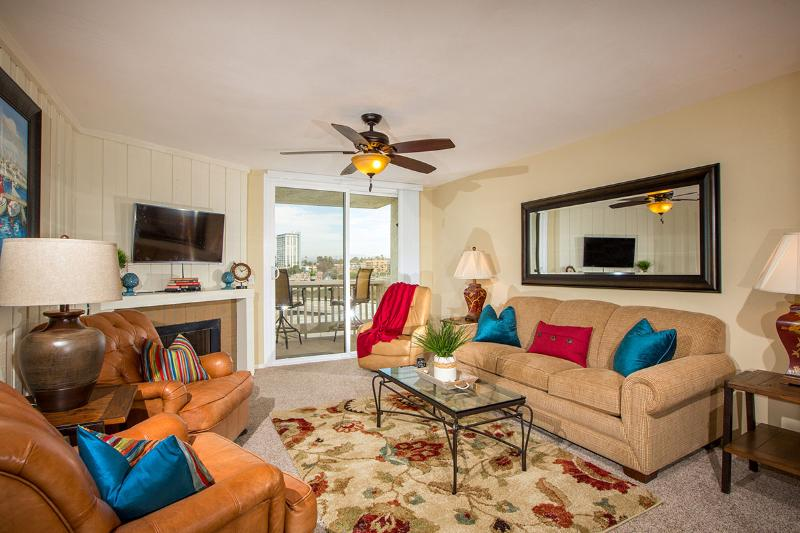 What a warm, cozy space to come home to after a day in the surf, sand, and sun! - Marina Landing~2BR Ocean & Harbor View G216 at NCV - Oceanside - rentals