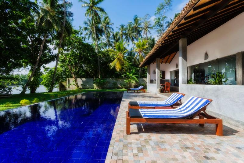The deck, the pool and the laguna - Gangananda, Stylish Boutique Villa by the river - Ambalangoda - rentals