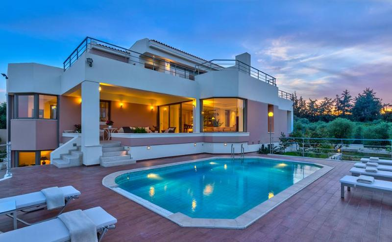 Exterior - Luxury 5 Bedroom Villa with Private Pool, Sea View - Chania - rentals