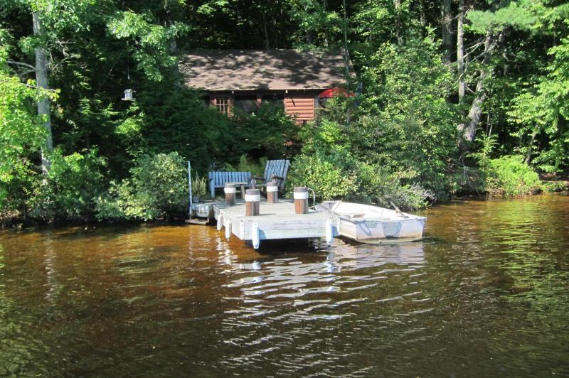1 Cottage and Dock - Secluded, Lakeside, Split-log Cottage with Fireplace, Rowboat - Weare - rentals