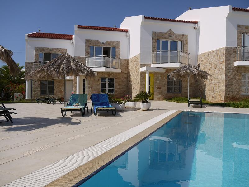 Luxury villa with pool, sea and mountain views - Image 1 - Makry-Gialos - rentals