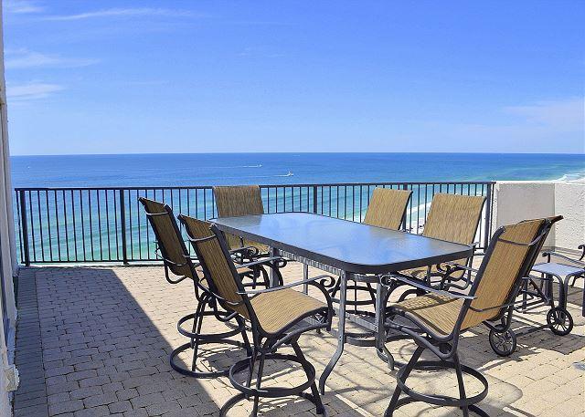 Beachside I 4144 - Gibson Beach Rentals - Gulffront Penthouse w/ Huge Terrace+Balcony! Hot tub/pool~Beach at your door! - Miramar Beach - rentals