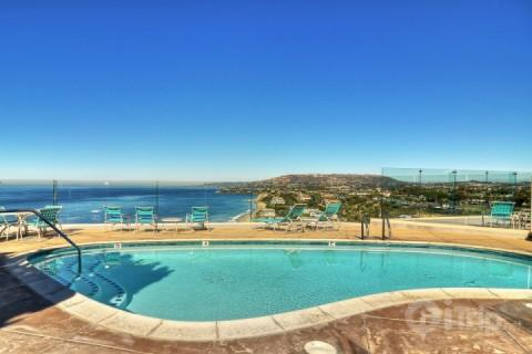 Sparkling, heated pool with an ocean view - Dana Strand Oceanfront Condo - Dana Point - rentals