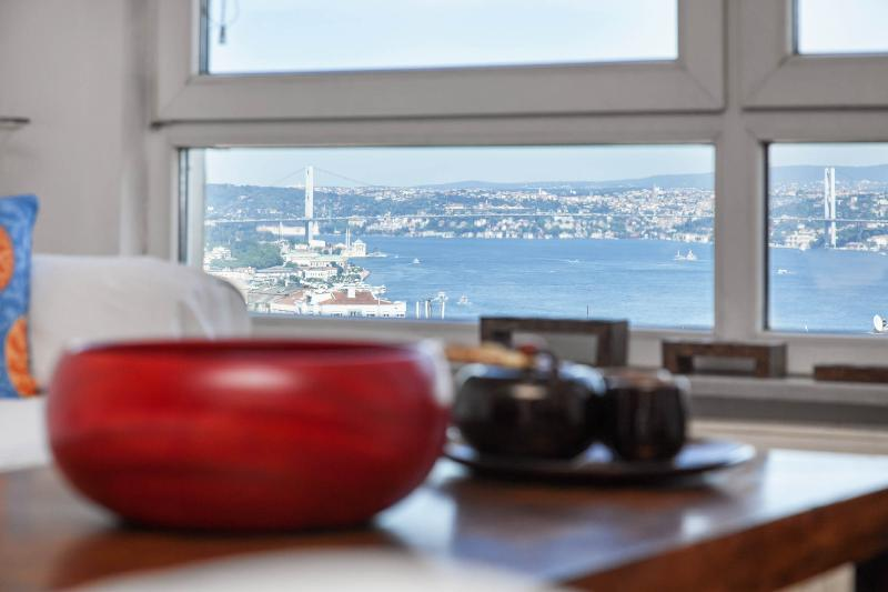 Bosphorus view from Living Room - CIHANGIR | stunning Bosphorus view! - Istanbul - rentals