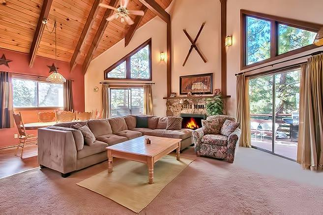 Upstairs Main Floor Living Room - Heavenly Hideaway - South Lake Tahoe - rentals